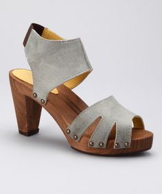 Love this Mint Blue Leather Vela Sandal by Sanita Clogs on #zulily! #zulilyfinds
