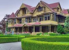 Winchester Mystery House, San Jose, CA.  This labyrinthine 160 room Victorian mansion which Sarah Winchester the heir to the eponymous rifle empire built. It's suppose to hold all the spirits of those felled by Winchester bullets.