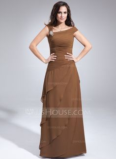 Mother of the Bride Dresses - $152.99 - A-Line/Princess Off-the-Shoulder Floor-Length Chiffon Mother of the Bride Dress With Ruffle Beading (008006438) http://jjshouse.com/A-Line-Princess-Off-The-Shoulder-Floor-Length-Chiffon-Mother-Of-The-Bride-Dress-With-Ruffle-Beading-008006438-g6438