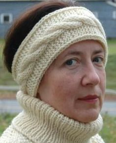 Free Knitting Pattern for Double Layer Cable Headband