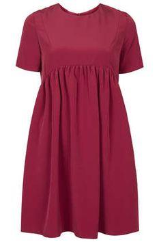 **Curved Hem Boxy Smock Dress by Oh My Love topshop