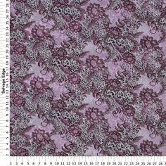 Wild Lace Chiffon Eggplant Polyester Fabric