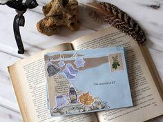 Boríték dekorálás téli matrica szettel Snail Mail, Post Office