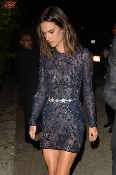 Alessandra Ambrosio Leaves a Pre Oscar Talent Agency Party on February 26, 2016, Los Angeles, CA