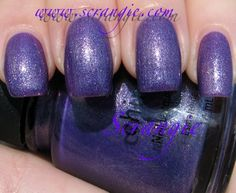 cg grape juice. one of my new favorite polishes. perfect purple, not sheer in the least, and a wonderful shimmer