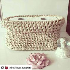 """79 curtidas, 1 comentários - Arte em Crochê Gisa Rodriguez (@gisarodriguez) no Instagram: """"#repost #cestoorganizador #fiodemalha #fiosdemalha #trapillo #trapilho #trabalhomanual #feitoamao…"""""""