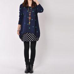 Women's long sleeve irregular cotton sweater