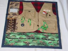 Fidgety Fisherman Quilt- Tactile - Bright & Colorful- Fun for Alzhiemer Patients. $40.00, via Etsy.