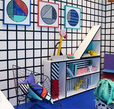 print & pattern blog - camille walala shop window at Aria London