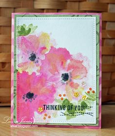 After-Hours Ink & Flowers: Laura Jane stamped the leaves & flowers using Altenew's Watercolor Wonders stamp set.