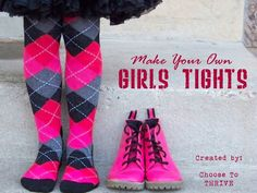 ... creative way of making Girls Tights - this was the original I saw 2011 or was it 2010? ... well.. those with little girls will love this!!