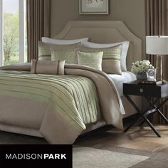 @Overstock - Complete your bedroom decor with this stylish Madison Park duvet cover set. This 6-piece bedding ensemble features a pintucked design. http://www.overstock.com/Bedding-Bath/Madison-Park-Hayes-6-piece-King-size-Duvet-Cover-Set/5493015/product.html?CID=214117 $86.00
