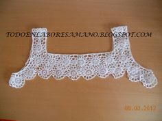 Crochet edging for tops granny squares 65 Ideas Col Crochet, Crochet Fabric, Crochet Collar, Crochet Girls, Cotton Crochet, Thread Crochet, Lace Knitting, Crochet Baby, Crochet Patterns