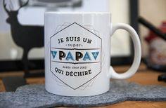 le Mug Je suis un super papa qui déchire par Creabisontine sur Etsy, €14.00