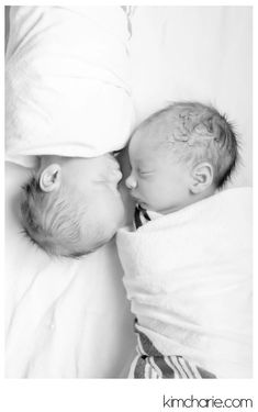 twin newborn hospital pictures - twin inspiration for Jessica