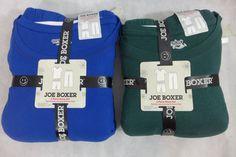 Mens Pajamas Joe Boxer 3 Piece Thermal Top & Shorts Fleece Long Pant Skulls Deer #JoeBoxer #PajamaSets