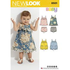 New Look Pattern 6501 Babies' Dress and Romper