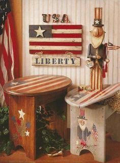 Patriotic Primitives Decorative Tole Painting