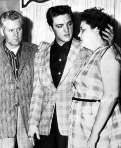 Elvis Presley / Just look at the way he is looking at his mother. He adored her .