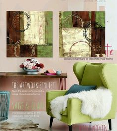Find More Painting & Calligraphy Information about Hand painted oil painting… Green Canvas Art, Modern Canvas Art, Abstract Canvas, Dyi Painting, Living Room Art, Painting Inspiration, Home Art, Decorating Your Home, Decoupage
