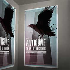 Poster with black bird