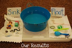Sink and Float- Good elementary level science experiment