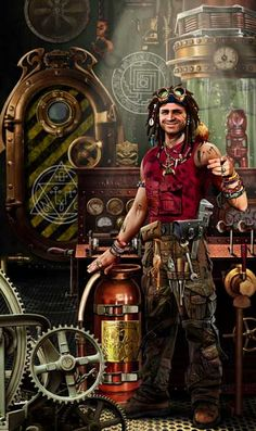 Airship engineer by Vadim Panov, via Third Eye (not really steampunk, as it seems to be powered by magic - not the complex sigils)