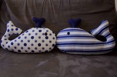 My two little whales made for a friend's brand new baby boy who's nursery is nautically themed =)