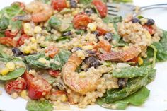 Avocado Ranch Israeli Couscous Salad