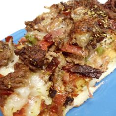 This is a different approach to the traditional pizza! This is a sure thing recipe to rope your man in and keep him :)