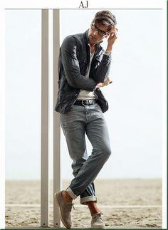 Fabio Mancini for Armani Jeans S/S 2014 Menswear Fashion