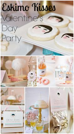 "Such an original ""Eskimo Kisses"" Valentine's Day party! See more party ideas at CatchMyParty.com. #valentinesday #partyideas"
