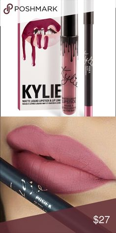 Kylie Cosmetics Posie K matte lip kit Like new lip kit. Used once. Pencil never sharpened. Color didn't work for me my loss is your gain! Will be sanitized before shipment. No box included. 100% authentic!! Kylie Cosmetics Makeup Lipstick
