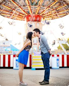 fun modern state fair engagement session by maria hibbs of squaresville studios in dallas texas
