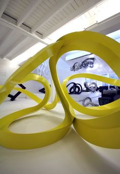 Color // Awesome yellow sculpture by Korban/Flaubert lives in their new gallery space in Sydney, Australia » CONTEMPORIST