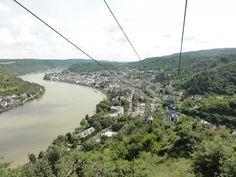 Een uitkijkje vanaf de Sesselbahn op Boppard aan de Rijn, Duitsland