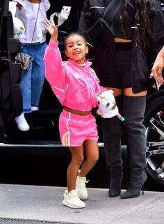 North West Celebrated Her 5th Birthday Power Posing in Pink Tracksuit