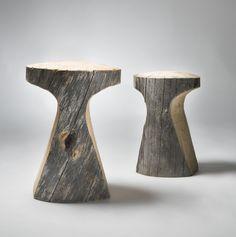 banco de tronco de madeira