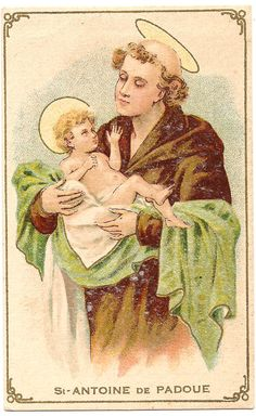 St. Anthony of Padua Antique Vintage French Holy by 12StarsVintage
