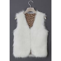 Chicwish Chicwish Faux Fur Vest in White (620.105 IDR) ❤ liked on Polyvore