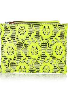 Christopher Kane Laser Cut Neon Bag