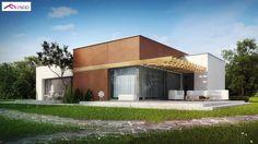 Projekt domu Zx101 Komfortowy dom parterowy o nowoczesnym wyglądzie z linii modern.