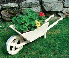 Dekorační květináč - trakař | Zahradní dekorace | Fortel