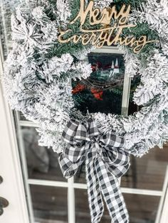 I went for a timeless winter porch look this year. Something that is simple yet festive and will look great all Winter long. If you are a lover of everything flocked and neutral you are going to want to check this out! #farmhouseporch #winterdecor #winterporch #farmhousedecor Christmas Tree In Urn, Christmas Bedroom, Christmas Decorations, Holiday Decor, Christmas Time, Flocked Garland, Winter Porch, Small Lanterns, Hanging Vases