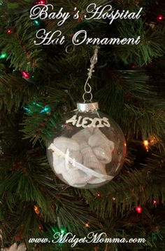 DIY Baby's Hospital Hat ornament. Use that adorable baby hat your baby gets at the hospital to make a DIY ornament!
