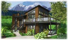 844 - Le Matit Chalet Maison à paliers Maison secondaire | Plans Design