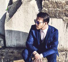 #style#men#serious#blue#model#fashion#fashionmen#menstyle#picoftheday