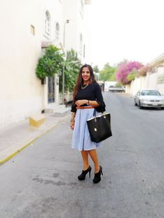 The Silver Kick Diaries: Black Double Ruffles, Self-Striped Skirt + My Paradox of Relaxing