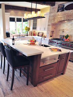 Mediterranean Kitchen Islands Design, Pictures, Remodel, Decor and Ideas