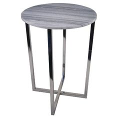 Threshold™ Round Marble Top Accent Table